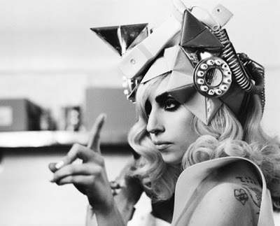 Lady Gaga Telephone Hat. Lady Gaga Telephone Hat